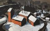 Steel Mill at Night by Carl Frederick Gaertner