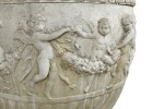 An Elegant Monumental Classical Style Single Urn on Pedestal by 20th Century American School