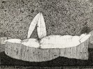 Reclining Male Figure by Joseph Glasco