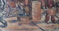 Busy New York Street Scene, 1943 by Milford Goldfarb