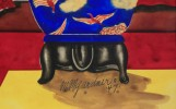 Three Asian Subject Still Lifes by Milford Goldfarb