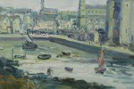 Port de St. Servan by Gustave Madelain