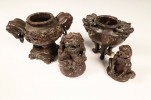 Two Chinese Soapstone Incense Burners