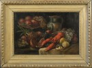 Still Life with Lobster, Pomegranate, Fruit and Jug by J. Horstmann