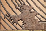 A Very Fine Japanese Ranma (Transom), Carved with Waves