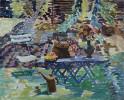 Garden Still-Life with Trellis by Joseph Benjamin O'Sickey