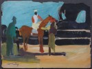 Race Horse and Groom by Joseph Benjamin O'Sickey