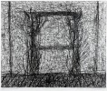 Abstract Etching Drawing: