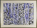 Landscape with Trees, Cobalt and Black by Joseph Glasco