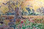 Garden Landscape with Flowers by Joseph Benjamin O'Sickey