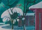 Snowy Landscape with Cardinals by Joseph Benjamin O'Sickey