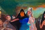 Figurative Oil on Masonite Painting: