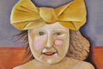 Girl with a Yellow Bow by Mary Spain