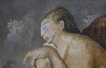 Figurative Oil on Canvas Painting: Sentada Desnuda painted by Guillermo Meza in 1941