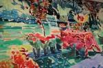 Joseph O'Sickey-Spring Garden (Backyard Garden with Table) by Joseph Benjamin O'Sickey