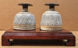 A Fine Pair of South Italian Inkwells