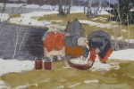 Russian Washerwomen by Andrei Afanasievich Egorov