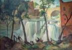Saturday at Chagrin Falls by Carl Frederick Gaertner