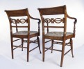 Very Fine Set of Eight American Sheraton Tiger Maple Fancy Chairs, Early 19th Century