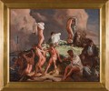 Figurative Oil on Canvas Painting: Skinny Dipping in the Seine, Paris, France Painted by Frank N. Wilcox
