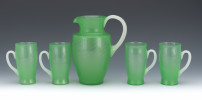 Steuben Jade Glass Pitchers and Tumblers