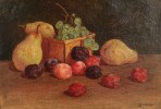 19thc. American School- Still Life with Fruit by 19th Century American School