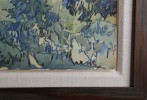 Landscape Watercolor and Crayon on Paper Painting: