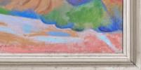 Landscape Oil on Masonite Painting: