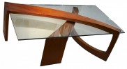 Walnut and Glass Coffee Table by Ben Mack